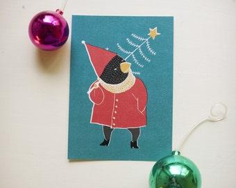 SALE!!! Greeting card: Oi kuusipuu