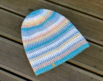 Crochet Hat - Slouchy Hat - Slouchy Beanie Hat - Summer Hat