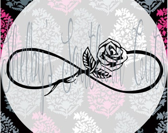 Infinity Rose SVG DXF EPS digital files