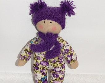 Baby Doll, Organic Soft Toy, Rag doll, Doll for baby, Fabric soft doll, Eco friendly, Baby's First Doll, nursery decor