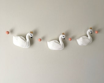 Swan Princess Felt Banner