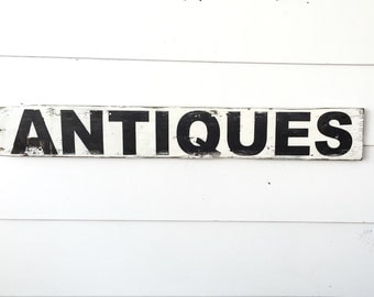 Hand Painted Antiques Sign