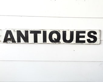 Hand Painted Antiques Sign - FREE SHIPPING