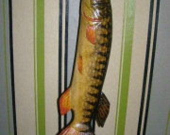 the sculpture of the fish Pike 40 cm