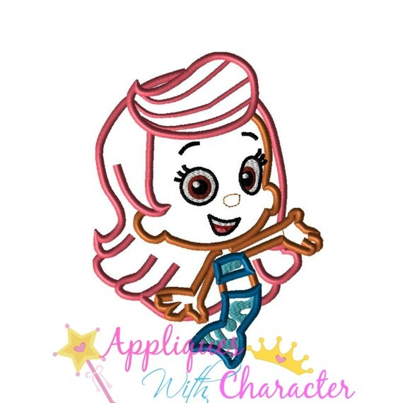 Bubble Guppies Applique Embroidery Design