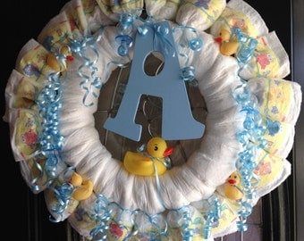 Baby Duck Diaper Wreath