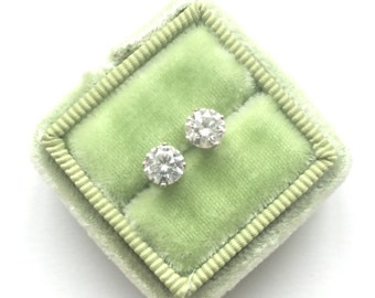 On Hold For Kenya | Please Do Not Purchase |Diamond Stud Earrings | 0.96 Carats | White Gold Gifts For Her
