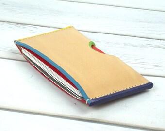 Slim Leather Card Holder - Business Cardholder - Leather Card Wallet