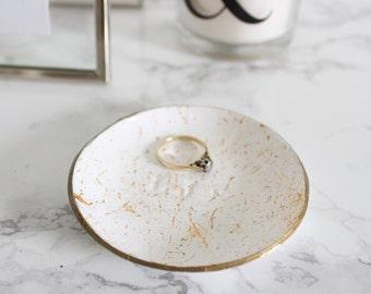 Gold Initial Ring Dish