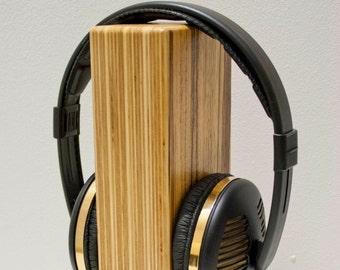 Oscarsaudio Stacked Ply Headphone Stand in Zebrano veneer