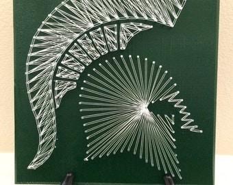 Michigan State - Nail String Art