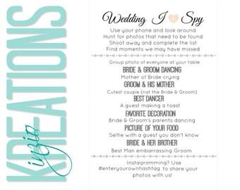Wedding I spy #1 - I spy -  I spy wedding game