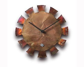 Wall clock, Home decor, Original clock, Hand made clock, Cooper clock, design clock, clock, rustic clock, clocks, unique clock, copper clock