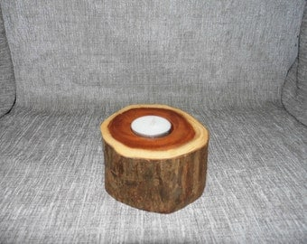 Wooden Tea Candle Holder