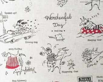 Wonderful Day Animals By Yuwa Fabrics