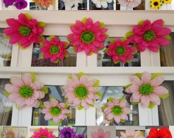 Set of 5x Large Tissue paper flowers /tinker bell/Wedding/Venue decorations/Pompom/ (3x45cm + 2x28cm)/ Choose colour