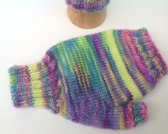 Fingerless mittens , texting gloves, driving gloves , multicolour luxury yarn