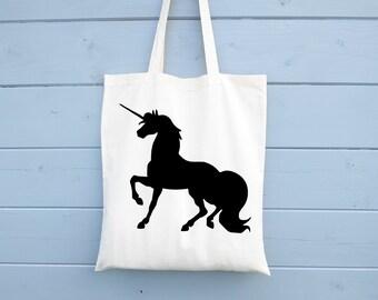 Tote Bag, Unicorn, Shopping Bag, Gift for Her, Tote Bag, Cotton Bag, Shopper, Canvas Bag, Market Bag, Grocery Bag, Fair Trade, Biodegradable