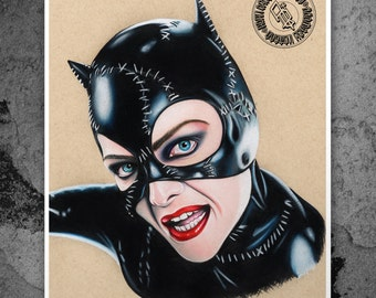 Catwoman - Illustrated Gicleé Print