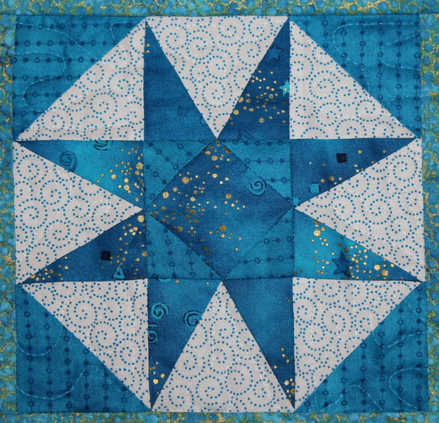 Storm At Sea Paper Pieced Pdf Quilt Pattern Easy Foundation