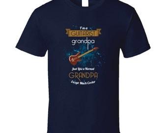 Grandfather guitarist t-shirt. Papa guitarist tshirt for him. Grandpa guitarist tee Grandfather guitarist idea. Great Papa guitarist gift