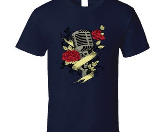 Microphone t-shirt. Microphone tshirt for him or her. Microphone tee as a Microphone idea gift. A great Microphone gift with Microphone top