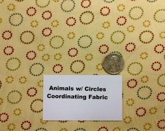 Coordinating Circles Fabric - 1 and 2/3+ Yards