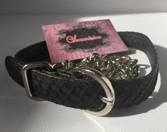 """Luxury and Fashion Genuine Python Leather Belt """"Glamourissima"""