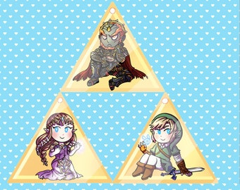 Zelda Triforce Acrylic Charms