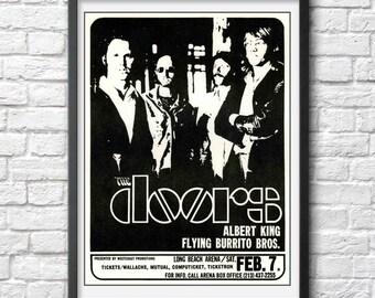 The Doors poster The Doors print The Doors photo The Doors vintage concert poster Jim Morrison print Rock music poster vintage rock PRINT