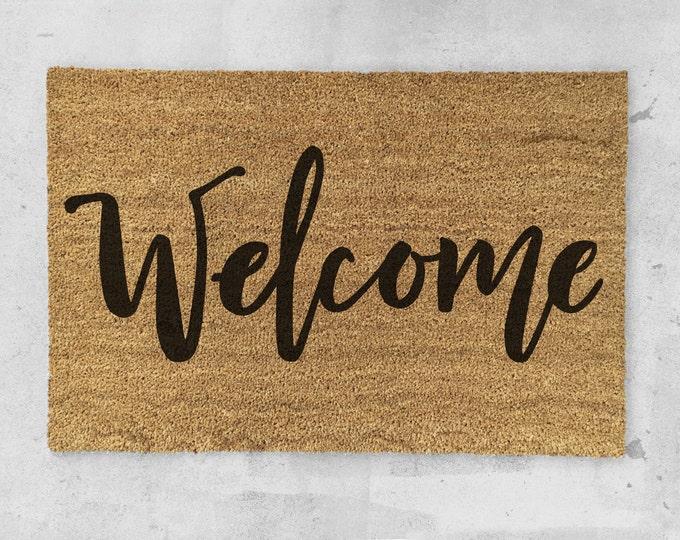 Welcome Doormat- Hand Painted - Welcome Door Mat