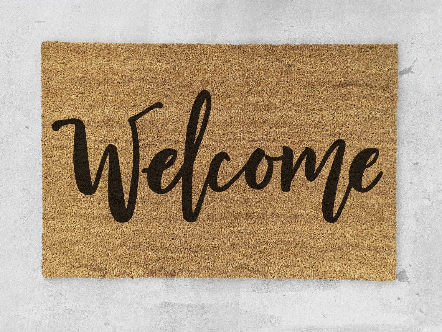 Welcome Doormat Hand Painted Welcome Door Mat