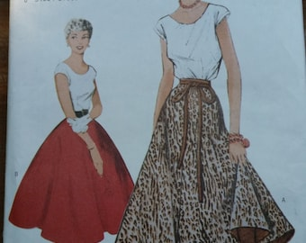Butterick 6176 Vintage Top and Skirt Pattern Size 8-10-12