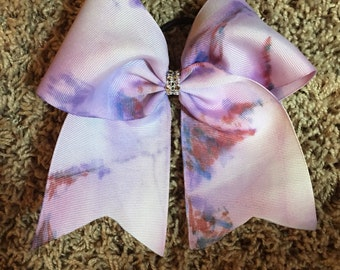 Marbled purple and red bow