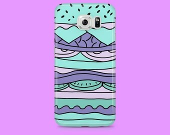 Pastel Burger case for Samsung Galaxy S6, Samsung Galaxy S5, Samsung Galaxy S7, Samsung Galaxy S7 Edge, cover for samsung, cases, cool