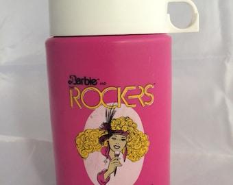 Vintage Barbie Rockers Thermos, Barbie Thermos, Rockers Thermos, Vintage Barbie