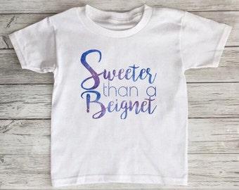 Sweeter Than A Beignet Louisiana Toddler Tshirt Baby Onesie
