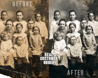 Professional Old Photo Restoration - (LEVEL 1) Restore Fix Retouch Preserve Old & Damaged Faded Torn Taped Repair Photoshop Antique Photos