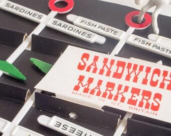 Retro sign post sandwich markers