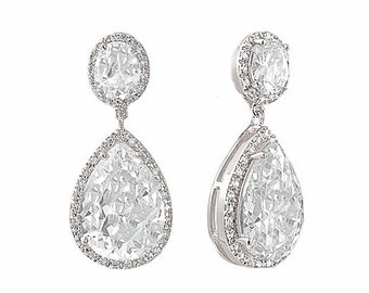 Silver finish Bridal Collection, Silver earrings, bridal glamour, Bridal and Prom Wear