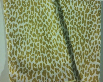 Gold cheetah print burp cloths