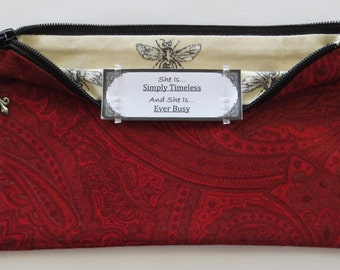 Persette #22 Personalized Zippered Organizing Pouch