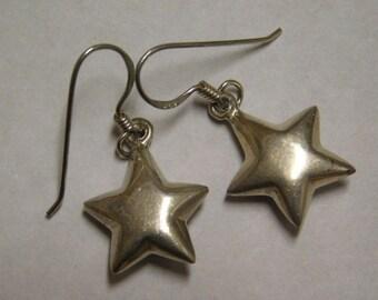 vintage sterling silver star Earrings