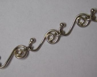 Vingtage Handmade Sterling Silver Bracelet