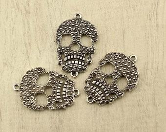 Skull charm,charm pendant,Charm Pendant Jewelry,jewelry charm,Making Jewelry Findings,fashion charms,10pcs,WYJ-P093