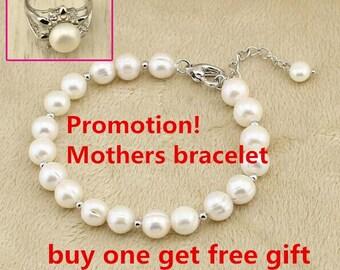 Everyday Pearl Bracelet, Wedding Pearl Bracelet, Freshwater Pearl Bracelet, Bridals Pearl Bracelet, Bridesmaid Jewelry, Pearl Jewelry, 58