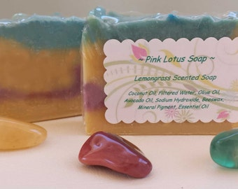 Lemongrass Scented Soap - Moisturizing - Artisan Soap - Handcrafted - Cold Process Soap - Pretty Soap - Bar Soap - Natural Bars