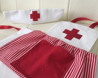 Nurse Dress Up Apron and Hat