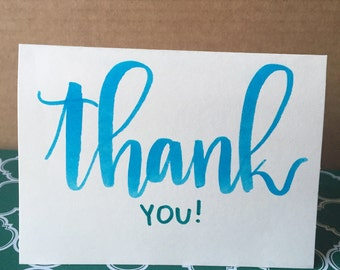 Hand Written Thank You Cards set of 5