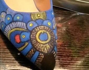 Heels hand painted